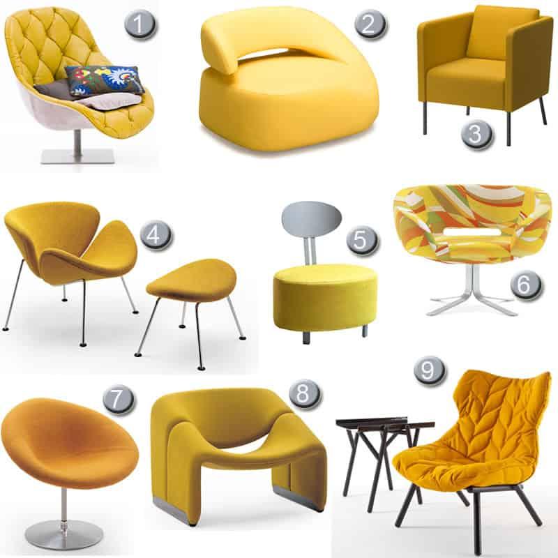 סופר צבע השעה: איפה מוצאים כורסת יחיד צהובה לסלון? | בניין ודיור LY-22