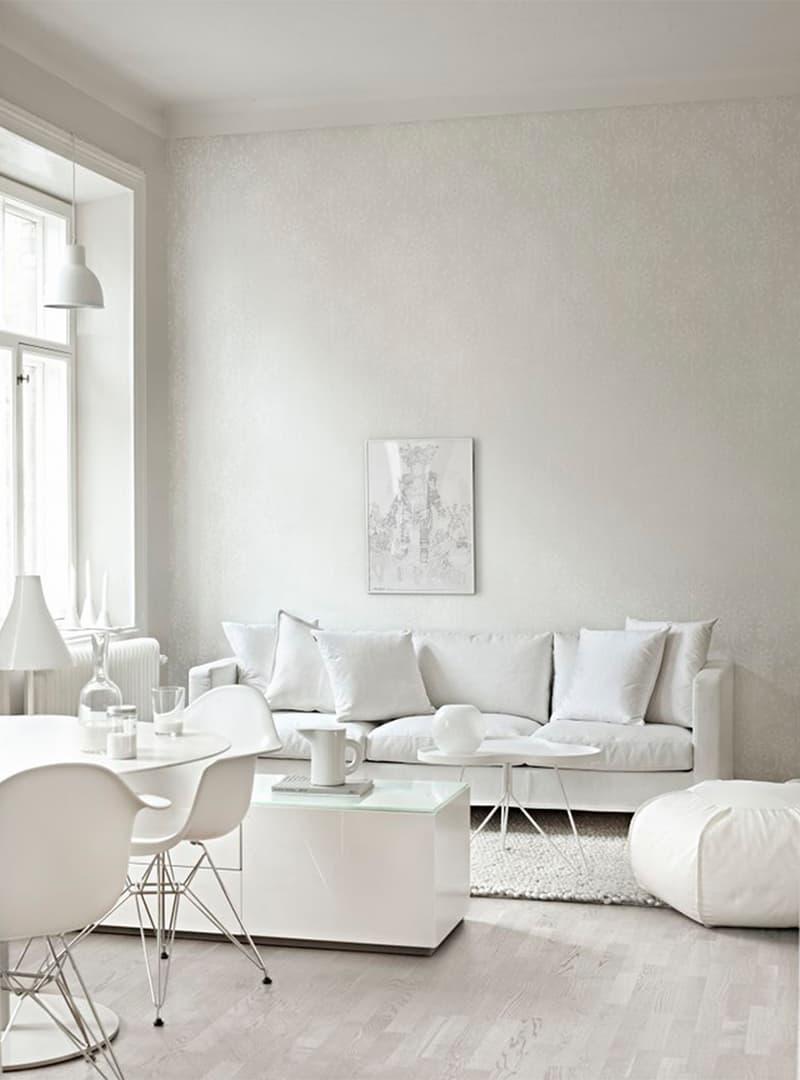עיצוב מונוכרומטי בלבן