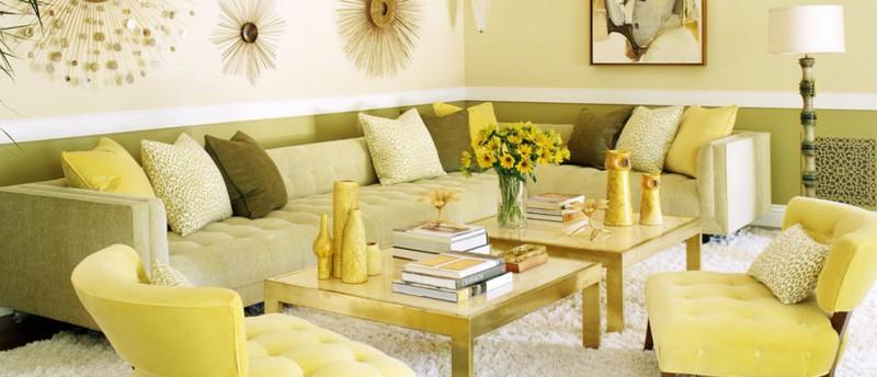 עיצוב מונוכרומטי בצהוב