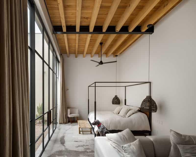 עיצוב חדר שינה במראה קולינאלי אמריקאי