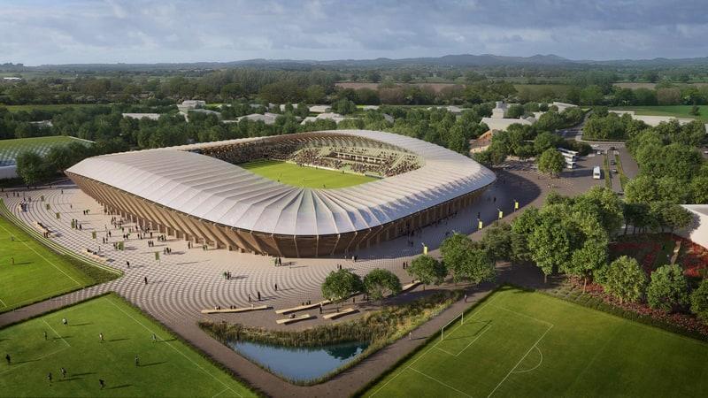 האצטדיון באנגליה. זאהה חדיד