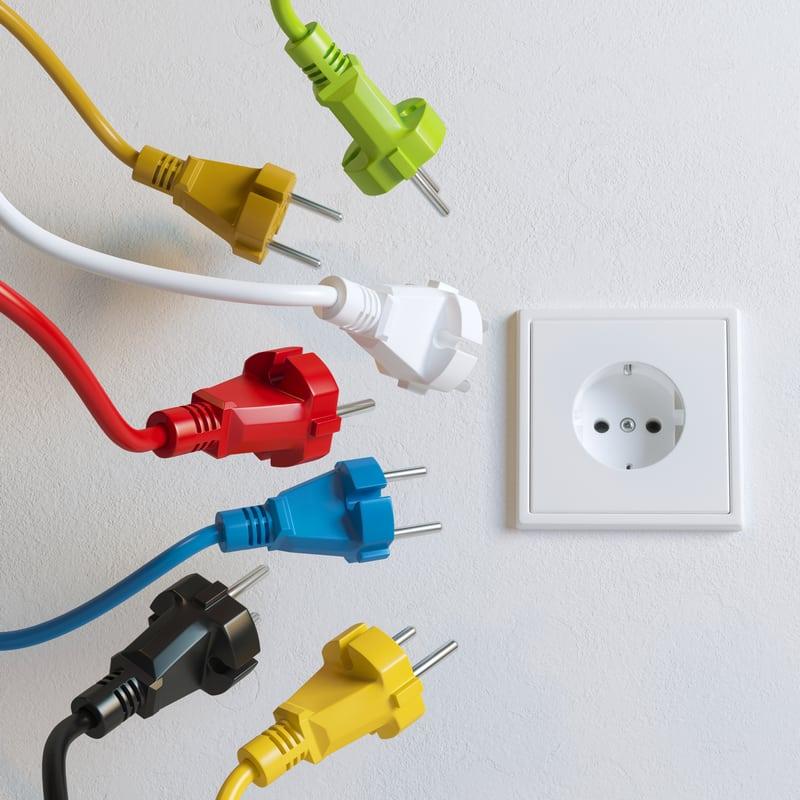 נקודת חשמל בבית