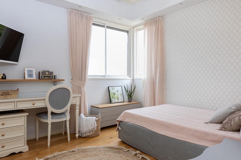 חדר שינה ורוד
